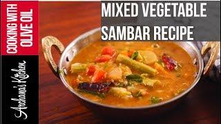 Mixed Vegetable Sambar - South Indian Recipes by Archana