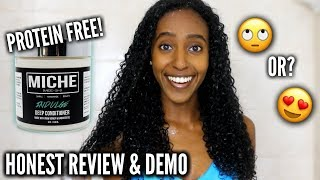 I TRIED THE MICHE BEAUTY INDULGE DEEP CONDITIONER | HONEST REVIEW & DEMO | CURLSMAS DAY 18
