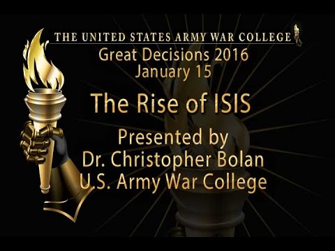 The Rise of ISIS, with Dr. Christopher Bolan