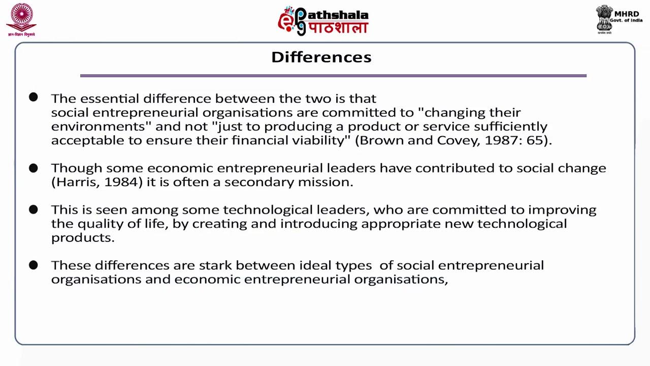 Characteristics and Motivation of Social entrepreneurs