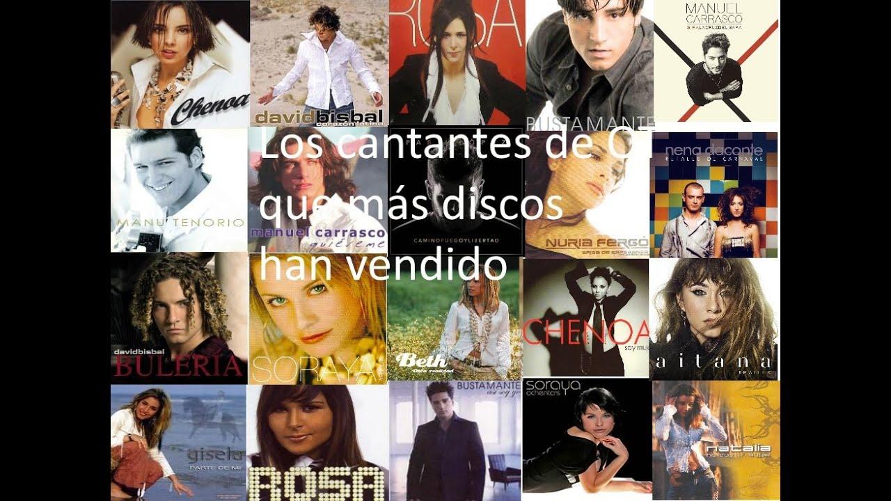 Top 28 Cantantes de OT que más discos han vendido en España (2001-2020)