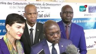 Ministre Oumar GUEYE au programme d'appui au renforcement et système d'information de l'Etat civil