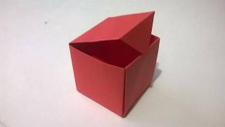 Como hacer una Caja de papel origami ¡muy facil! (Audio Español)