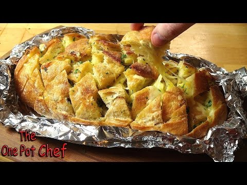 Cheesy Pull Apart Garlic Bread | One Pot Chef