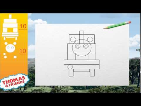 Aprende a dibujar con Thomas y sus Amigos - YouTube