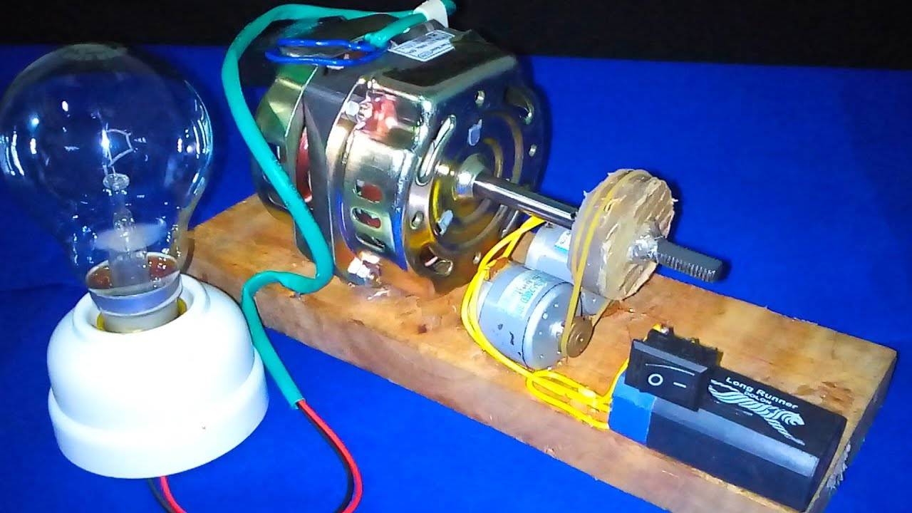06344a01e4f How to Make free energy Generator With motor very easy - Experiment DIY  Science Project School 2018