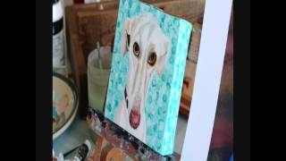 Pet Portrait Timelapse in Acrylic by Nicola McLean