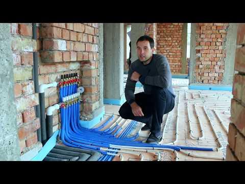 Схема водяного теплого пола в частном доме своими руками