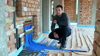 видео Укладка теплого водяного пола своими руками в доме