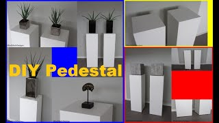 How to make pedestal stands / exhibition stand diy