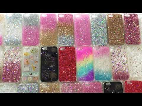 glitter resin iphone case
