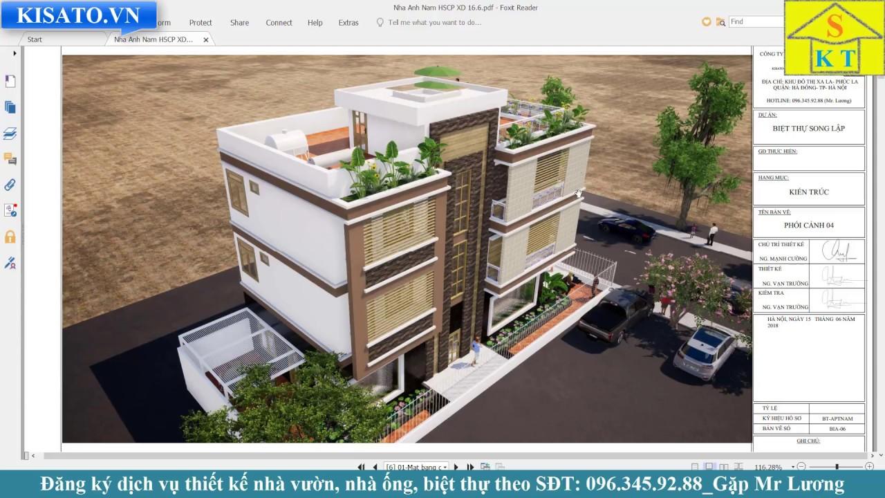 Mẫu Biệt Thự 3 Tầng Đẹp 230m2 Tại Khu Đô Thị Thanh Hà – Hà Nội