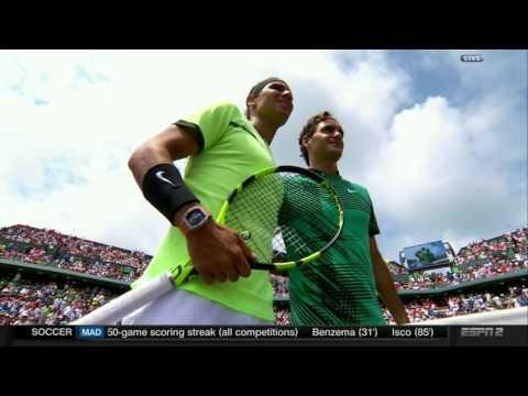 Prematch buildup Federer Nadal Miami 2017