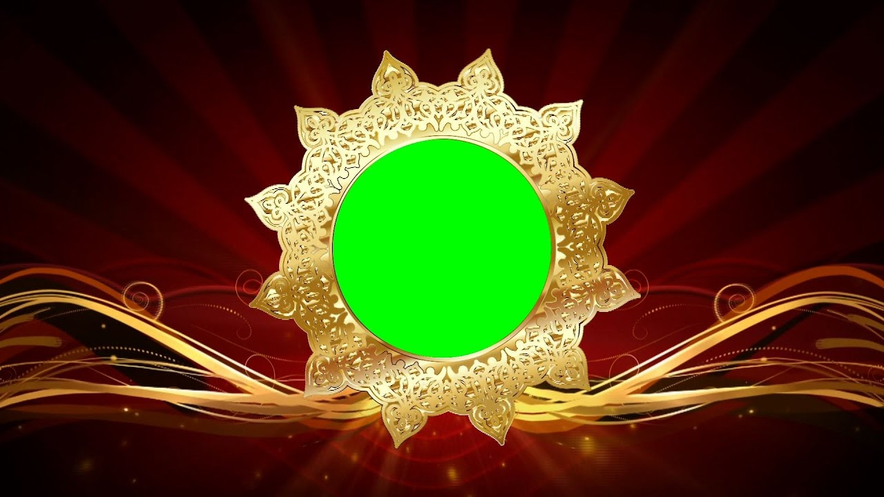 Floral Golden Indian Wedding Background Animation Full Hd 1080p