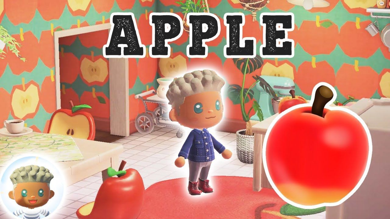 Animal Crossing Room Ideas   APPLE Fruit Themed House ... on Animal Crossing Living Room Ideas  id=43452