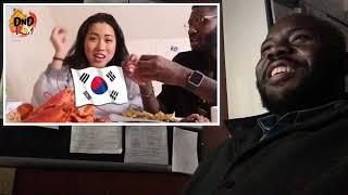 Korean Wife Tries Husbands Haitian Food (DnDROX)