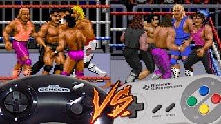 Sega Genesis Vs Super Nintendo - WWF Royal Rumble