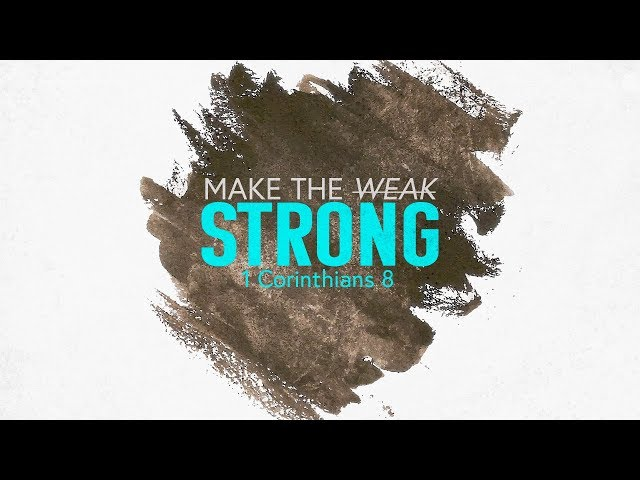 April 29, 2018: David Chotka - Make the Weak Strong