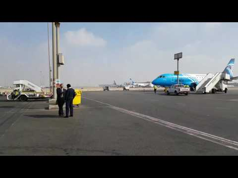 On our way to our Air Sinai plane, Cairo International Airport, Egypt (part 2)