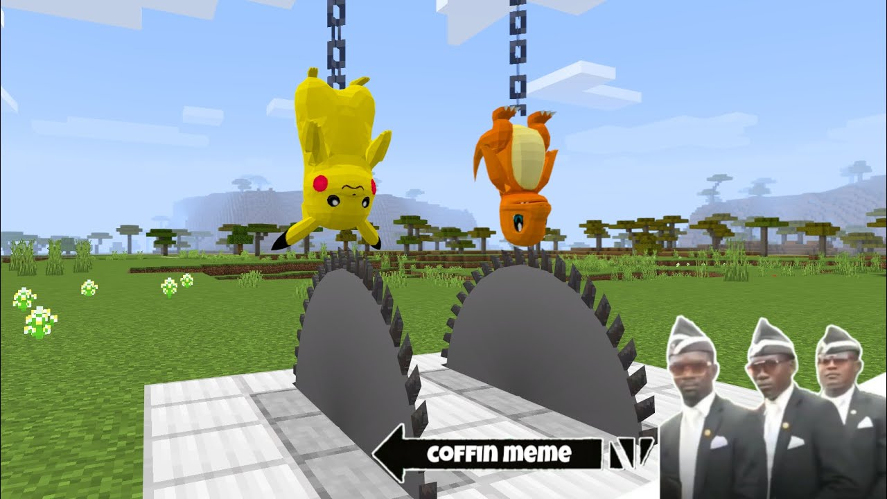 How to Catch a Pokemon in Minecraft - Coffin Meme