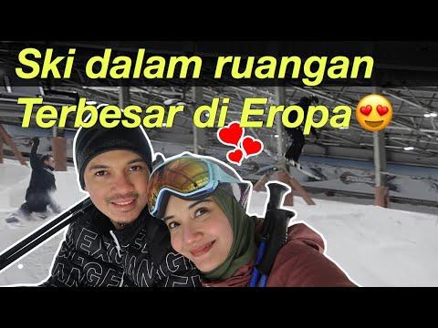 Nyobain Indoor Ski Terbesar di Eropa !! Wow seru bgt