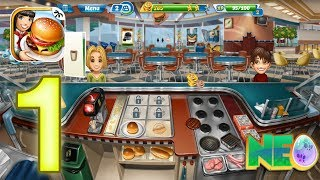 Cooking Fever: Gameplay Walkthrough Part 1 - Fast Food Court Level 1-5 (iOS, Android) screenshot 1