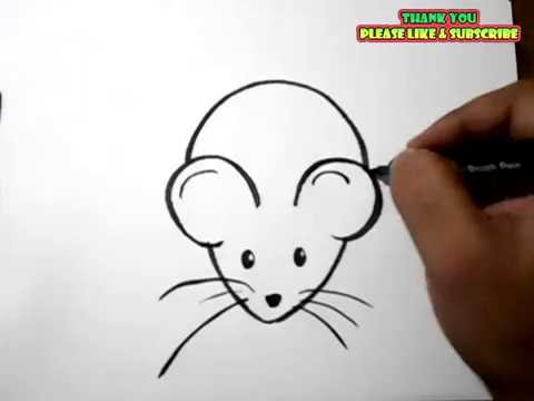 how to draw a rat easy drawing for kids - Easy Drawing Pictures For Kids