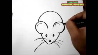 How to Draw a Rat Easy drawing for kids | YZArts