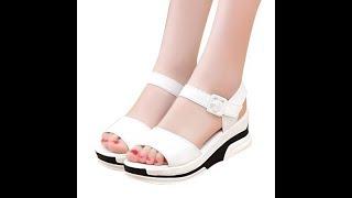 Женские босоножки с открытым носком, на платформе