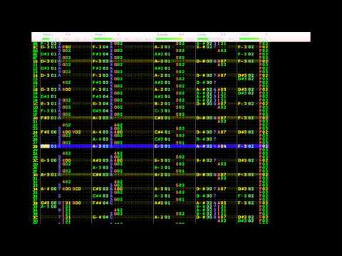 this is midi output in famitracker