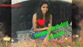 Nandhini serial Nithyaram Birthday Song