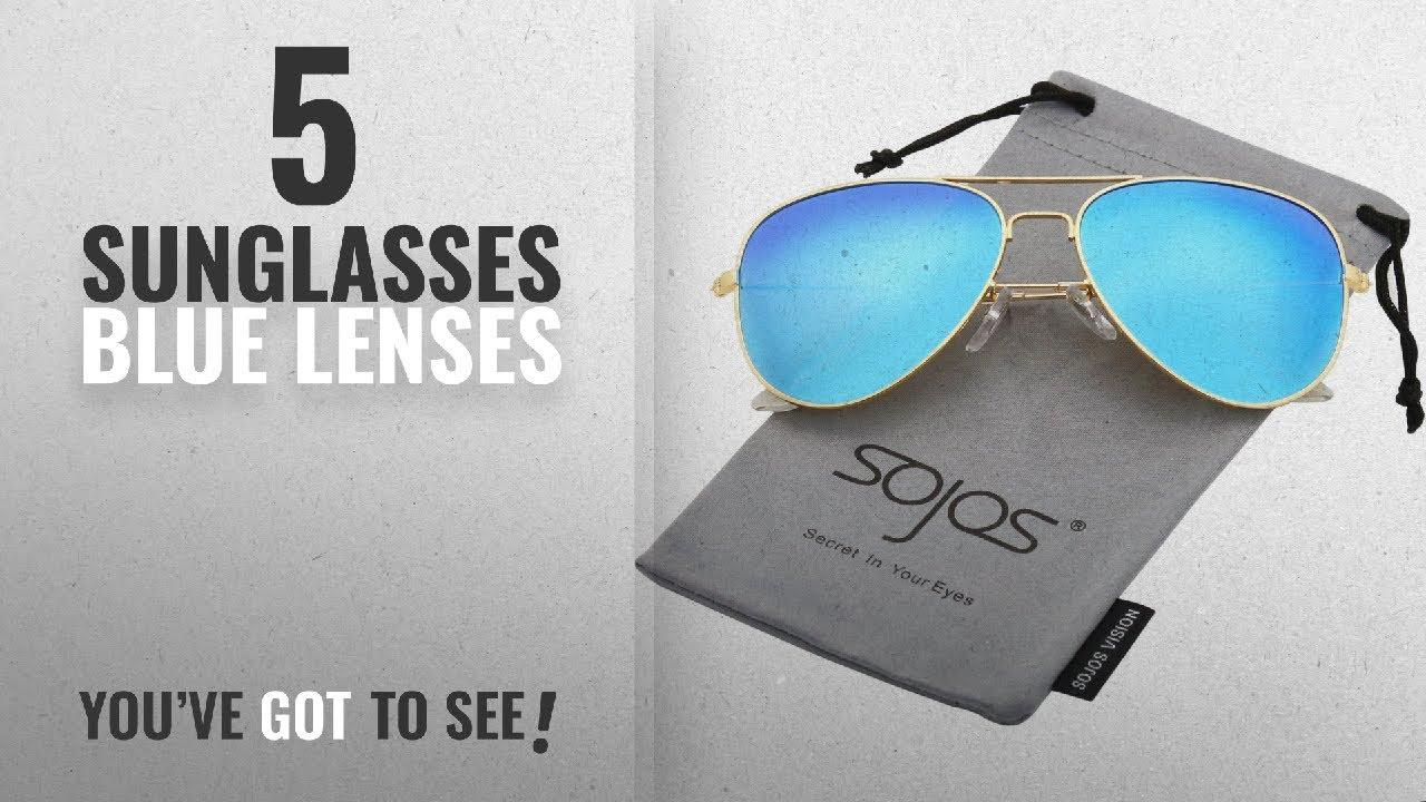 4276e288e5c Top 10 Sunglasses Blue Lenses   Winter 2018    SojoS Classic Aviator ...
