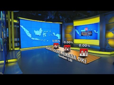 Live Streaming! Quick Count Pilkada DKI Jakarta 2017