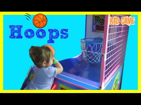✺ Toddler Shooting Hoops At Arcade - Family Fun!
