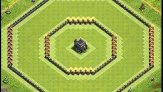 Th9 defense base   anti 2 stars   Diseño de aldea   Clash of clans