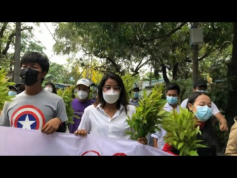 Myanmar protesters march to support shadow national unity government | AFP