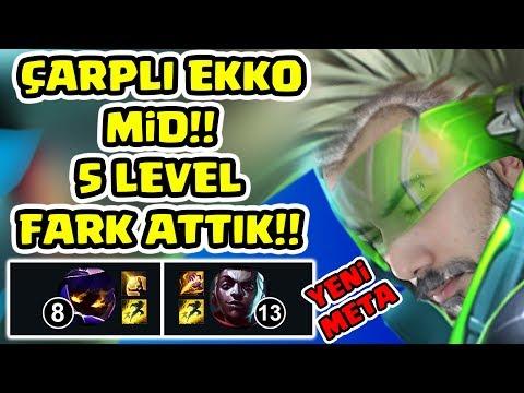 YENİ META ÇARPLI EKKO MID!! FAZLA XP İLE 5 ( B E Ş ) LEVEL FARK ATTIK!!  CLASH WIN TAKTİKLERİ!!