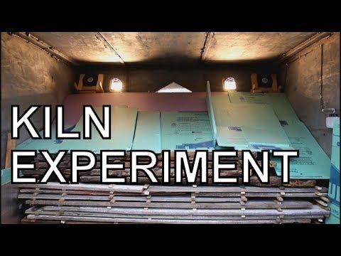 INTERESTING WOOD-MIZER KILN EXPERIMENT, SPALTING WOOD AFTER SAWMILLING,