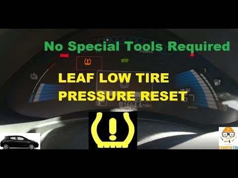 ▶️How to Reset Nissan Leaf Low Tire Pressure Light TPMS ( No special Tools Required ) EASY FIX