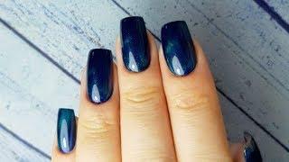 Дизайн ногтей гель-лаком кошачий глаз/Витраж. Наращивание ногтей/Полигель/Верхние формы MiRinails.