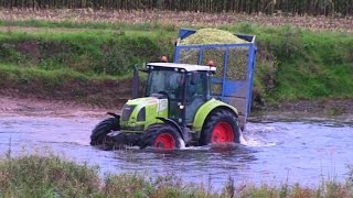 Swimming Tractors and Cab Ride in NEW Claas Jaguar 950