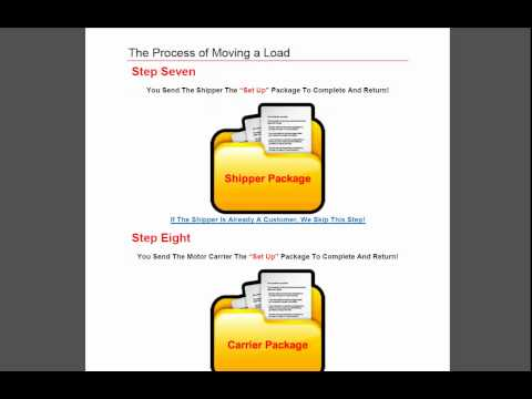 Freight Broker Agents - Step By Step (Moving A Load)