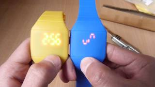 unboxing of blue  led watch with silicone strap(enjoy!!! Buy here new design silicone design led watch @ dirt cheap price Amazon http://goo.gl/iwOHbQ., 2014-02-07T15:45:49.000Z)