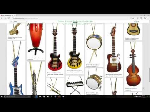 BHB Glass & More Christmas Ornaments - Musical Instruments
