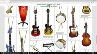 bhb glass more christmas ornaments musical instruments