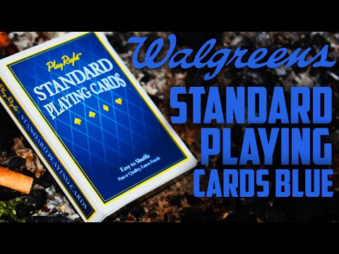 Deck Review - Play Rights Blue Jumbo Playing Cards Walgreens [HD]