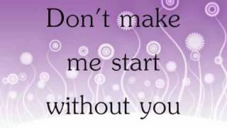 Alexandra Burke - Start Without You Lyrics
