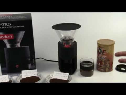 Bodum Bistro Coffee Grinder Review Youtube