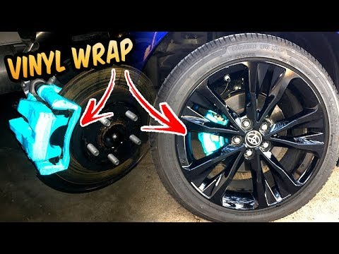 Brake Calipers Wrap Reflective Blue 2017 Corolla Se Youtube