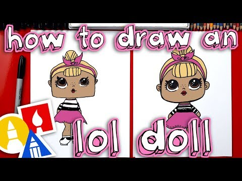 How To Draw An L.O.L. Surprise Doll + Plus We Open One!